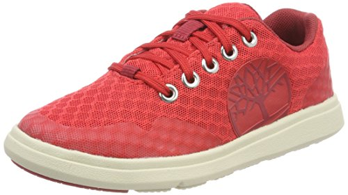 Timberland ARC Dome Mesh Logo, Zapatos de Cordones Oxford Unisex Niños, Rojo (Hibiscus 670), 32 EU