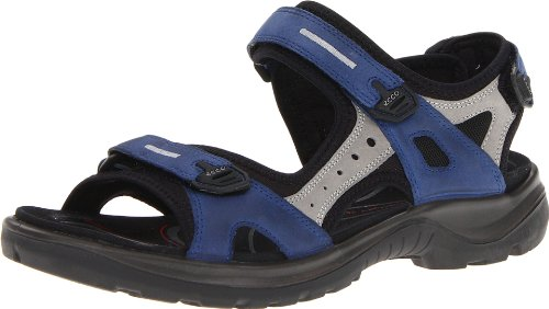 ECCO Women's Yucatan outdoor offroad hiking sandal, Medieval/Wild Dove, 8 M US