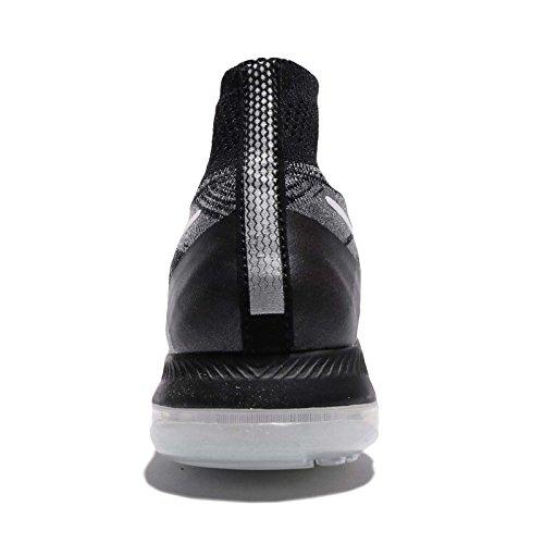 Nike Frauen Zoom All Out Flyknit Laufschuhe Grau / Weiß / Schwarz