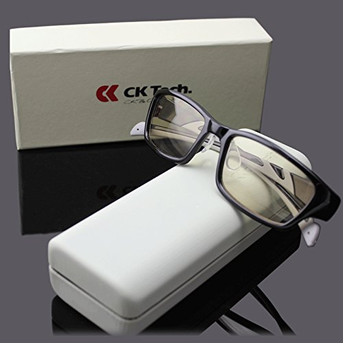 (CK Tech Melanin Anti Blue Light Computer Glasses Anti-glare,anti-reflective,anti-fatigue, UV and Computer/TV Electromagnetic Radiation Protection, Anti Fog, Scratch Resistant)