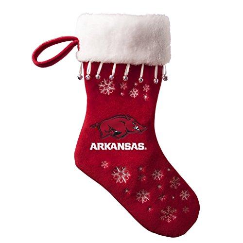 NCAA Arkansas Razorbacks Full Embroidered Snowflake Stocking