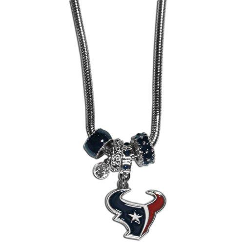 - Siskiyou NFL Houston Texans Euro Bead Necklace, 18-Inch