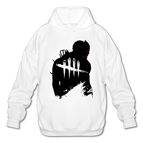 Price comparison product image SAMMOI Dead By Daylight Men's Cool Fleece Hoodie XXL White