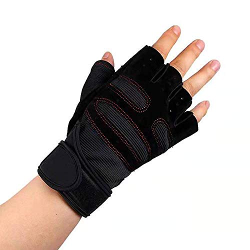 JOYOR Bicycle Fitness Gloves for Men and Women,Mountain Bike Gloves Half Finger Gym Cycling Roller Skating and Climbing(1 Pair)