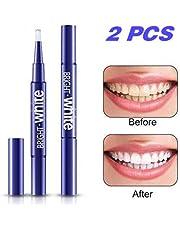 Teeth Whitening Pen,(2 PACK)Teeth Whitening Gel Pen Teeth Whitener, Hydrogen Peroxide Teeth Stain Remover, No Sensitivity, 20+ Whitening Treatments - No Teeth Whitening Strips, No UV Light, No Trays Required, Mint Flavor