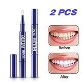 Teeth Whitening Pen,(2 PACK)Teeth Whitening Gel Pen Teeth Whitener, Hydrogen Peroxide Teeth Stain