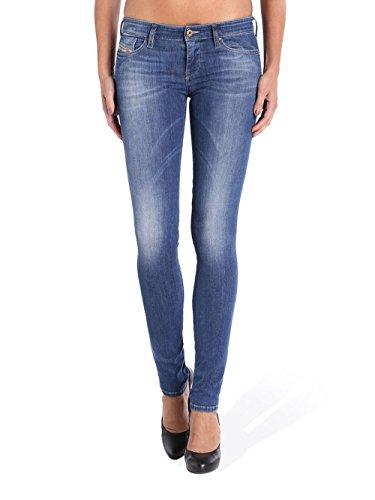0826F L32 Diesel Low W32 Jeans Skinzee Bleu Femme FZSZTq