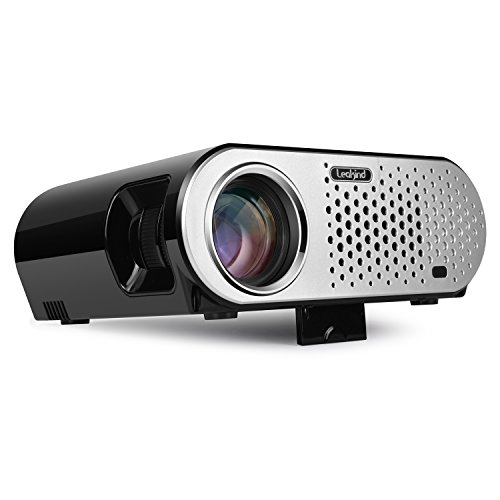 Video Projector 3200 Luminous Efficiency Leakind HD Outdoor Projector Support 1080P Home Theater Cinema Movie Party Game Projector HDMI VGA for Laptop iPhone Smartphone Xbox PS3 PS4