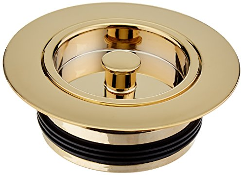 - Westbrass Push-In Replacement Disposal Flange & Stopper, Polished Brass, D2091-03