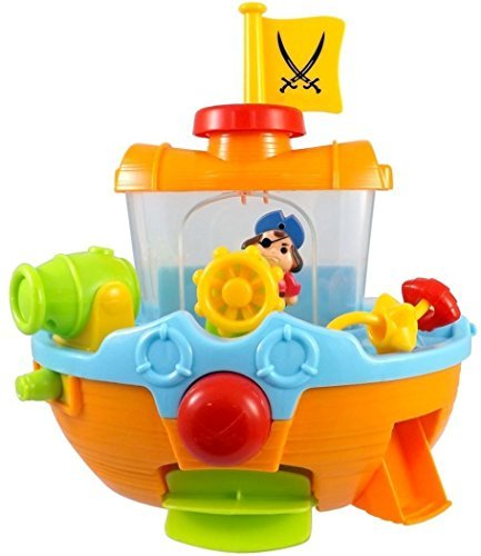 Pirate Ship Boat & Water Cannon Baby Bath Play Time Water Fun Toy Quickdraw 8806