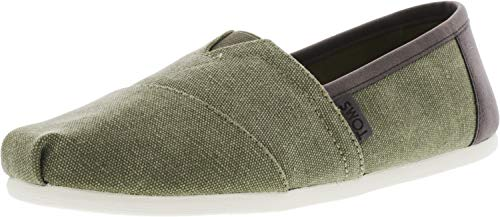 TOMS Men's Classic Slip On (12 D(M) US, Olive Washed Canvas/Trim)