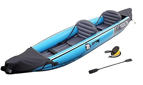 Jilong - Zray Roatan 376-kayak 2 personas - Turquesa: Amazon.es ...
