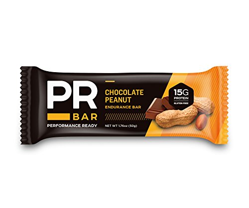 PR Bar | Chocolate Peanut 15g Protein Bar | Energy Sustaining & Hunger Curbing | Whole Nutrition | On-the-Go Soy and Whey Protein Snack | Gluten-Free | 12 Pack