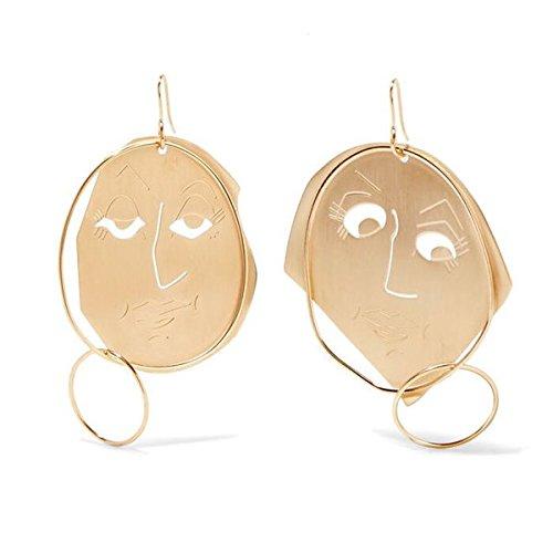 men and women girls models smiling face mask earrings custom smiley earrings fashion earrings men and women]()