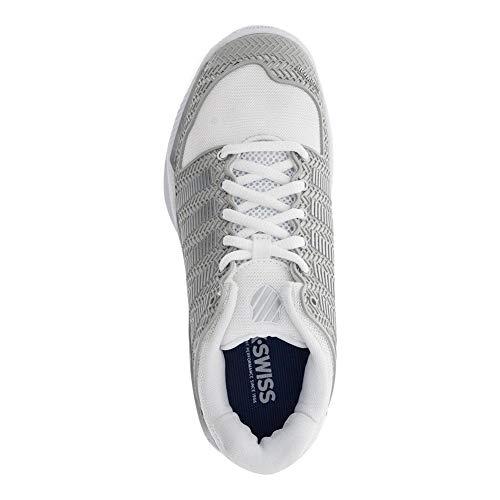 K-Swiss Women's Hypercourt Tennis Shoe-9.5-White/Silver
