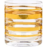 home essentials beer shot - Posh Gold Bangle Double Old Fashioned 10 oz. Glass (Set of 4)