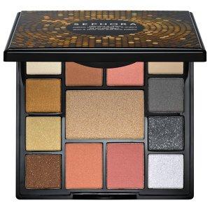 Sephora All Access Glam Золото и серебро для глаз и лица Palette