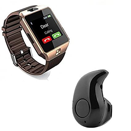 51d62e93912 Image Unavailable. Image not available for. Colour: Premium Design Bluetooth  Smart Watch DZ09 With S530 Bluetooth Headset ...