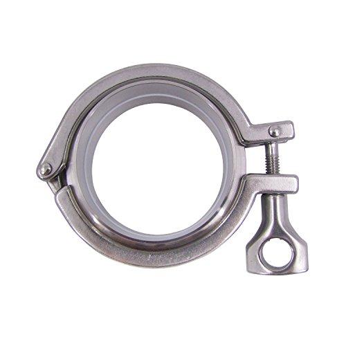 (HFS (R) OD SS304 Sanitary Pipe Weld Ferrule + Tri Clamp + PTFE Gasket Set (3IN))