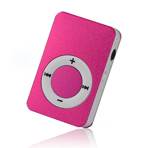 Start Mp3 Player Mini USB Digital Mp3 Music Player Support SD TF Card -Hot Pink