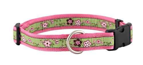Avery Blooms Jacquard Ribbon Dog Collar Closeout - (Print Jacquard Ribbon)
