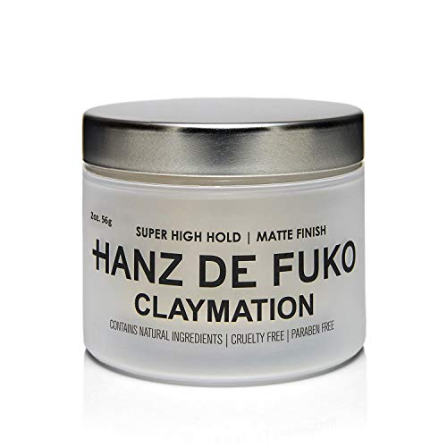 Hanz de Fuko Claymation- Premium Men's Hair Styling Clay with Matte Finish (2 oz)- Cruelty Free (Flowers That Open And Close With The Sun)