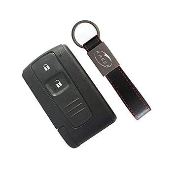 Carcasa para Llave de Toyota – Carcasa de 3 Botones para Mando a Distancia Toyota Prius 2004 – 2009 Corolla Verso Camry Keyless con Llavero KASER
