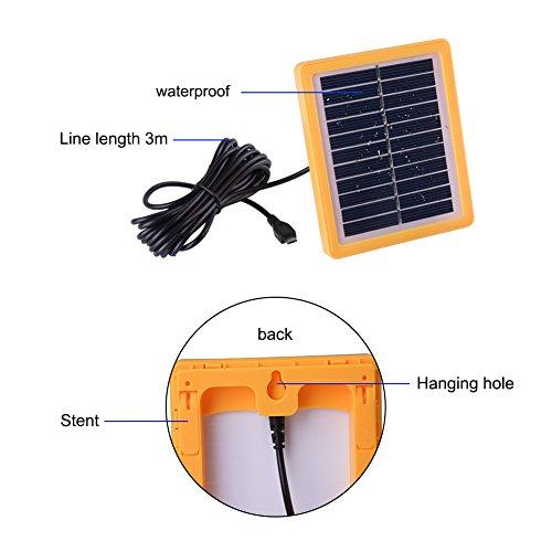 Novtopiz solaire Tente LED 240LM 2 modes d'éclairage lampe