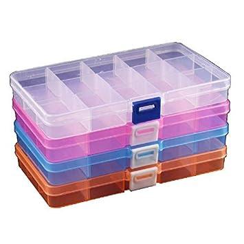 DuoFire® 【4色セット】アクセサリー収納 小物収納ケースボックス 透明 整理箱