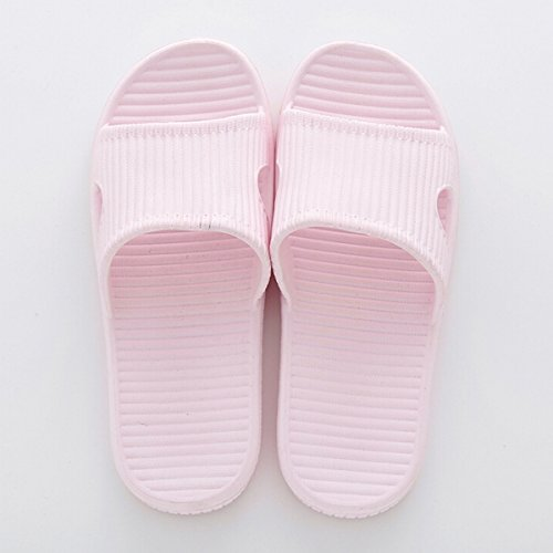 Fascigirl Shower Sandals, House Sandals Non-Slip Soft Home Bathroom Slippers for Adult Pink