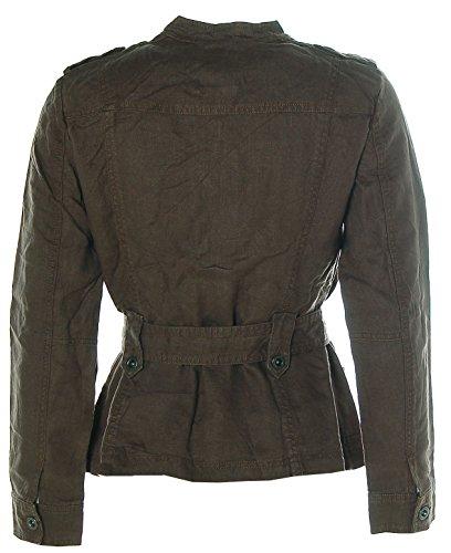Esprit Damen Leinen Jacke Biker-Style in verschiedenen Farben Braun EVGClDYpqb