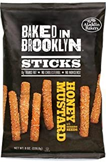 product image for Baked in Brooklyn Breadsticks, Honey Mustard, 8oz. Bags (Pack of 12) by BAKED IN BROOKLYN