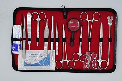 Annan Medical 31 Piece Dissection Kit and Suture Kit Combo | Premium Equipment for Dissecting and Suturing Practice | Medical, Anatomy, Veterinary and Biology Studies ()