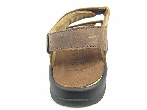 Solidus 7700030144 - Sandalias de vestir de Piel para hombre marrón