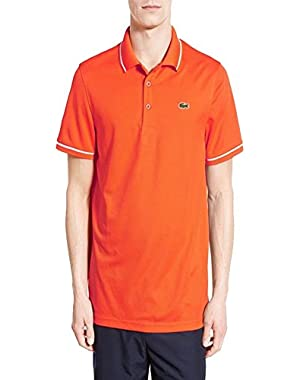 Sport Mens Tipped Quick Dry Orange Polo Shirt EUR 6 US XL