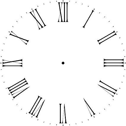 amazon com thin roman numeral clock stencil 12 40 inch 3743