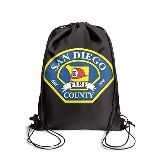 DSFSDCD San Diego Fire Rescue Department Women's Classic Marathon Drawstring Backpack Sack