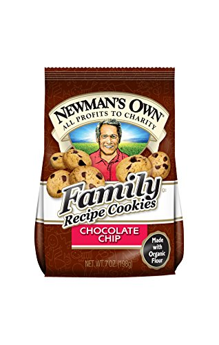 Newman's Own Family Recipe Cookies, Chocolate Chip, 7-Ounce Bags (Pack of 6) (Free Chocolate Cookies Cholesterol)