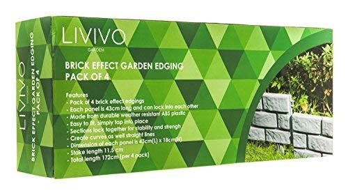 Paquete de 4 bordes con efecto ladrillo, de Livivo®. Crea una ...