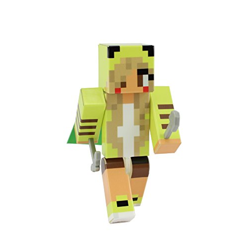 [Pika Girl Action Figure Toy, 4 Inch Custom Series Figurines by EnderToys] (Ghast Minecraft Costume)