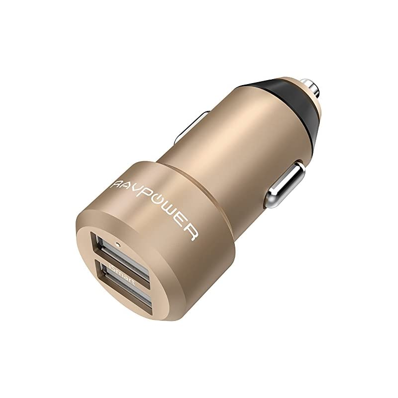 USB Car Charger RAVPower 24W 4.8A Metal
