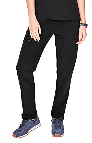 FIGS Medical Scrubs Women's YOLA Skinny Pants (Black, XS) ()