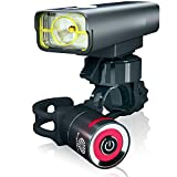 BrightRoad Rechargeable Bike Lights | Front and Back Bicycle Set | 800 Lumens Led Headlight & USB Tail Light | IPX6 Waterproof for Cycling - Strong Flashlights Increase Visibility |Safety Rear Light
