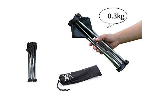 LMKIJN Silla cómoda Portable Ultraligero Marco de de de aleación de Aluminio Plegables Taburete de Acampar al Aire Libre para Acampar Caza de Pesca Picnic Viajes (Negro) Muebles de Exterior de67ae