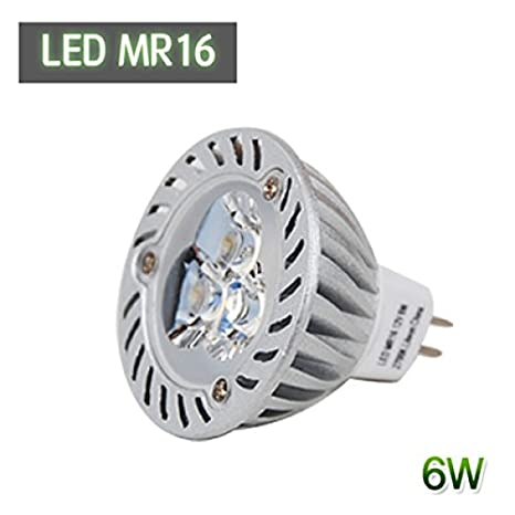 Repuesto de lámpara halógena LED MR16 de 12 V, bombilla 6400 K blanco frío, 6 W (=30 W), reflector GU5.3, de Lighton: Amazon.es: Iluminación