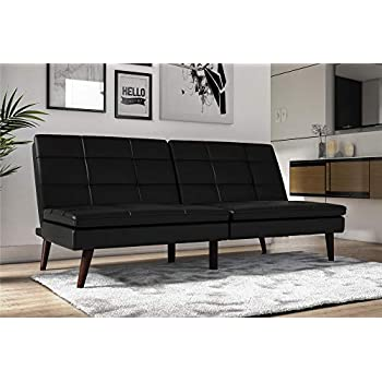 Amazon.com: DHP Allegra pillow-top futon, color negro ...