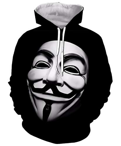 Men Hipster Halloween Vendetta Mask Hacker Hoodie Pullovers Sweatshirt]()