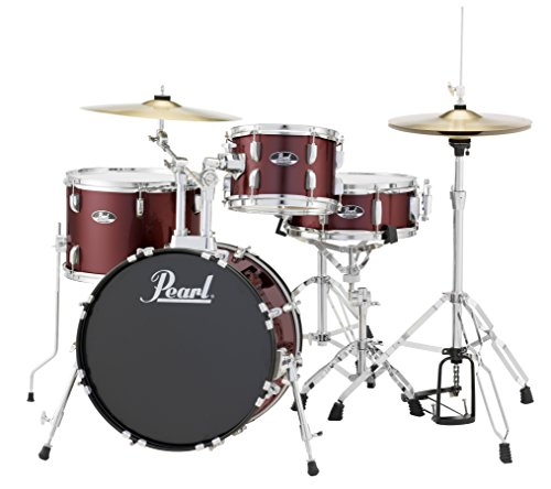 Pearl RS584CC91 Roadshow 4-Piece Drum Set, Wine Red 4 Piece Drum Shell