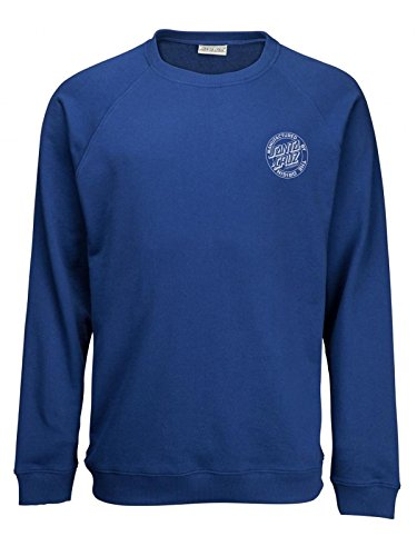 Backhander Bleu Raglan Fonce Shirt Cruz Santa Crew Sweat fIqwSHInB