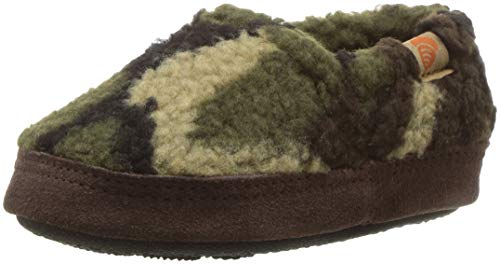 Acorn Unisex-Kids Moc Slipper, Camouflage, 1-2 Standard US Width US Little Kid ()